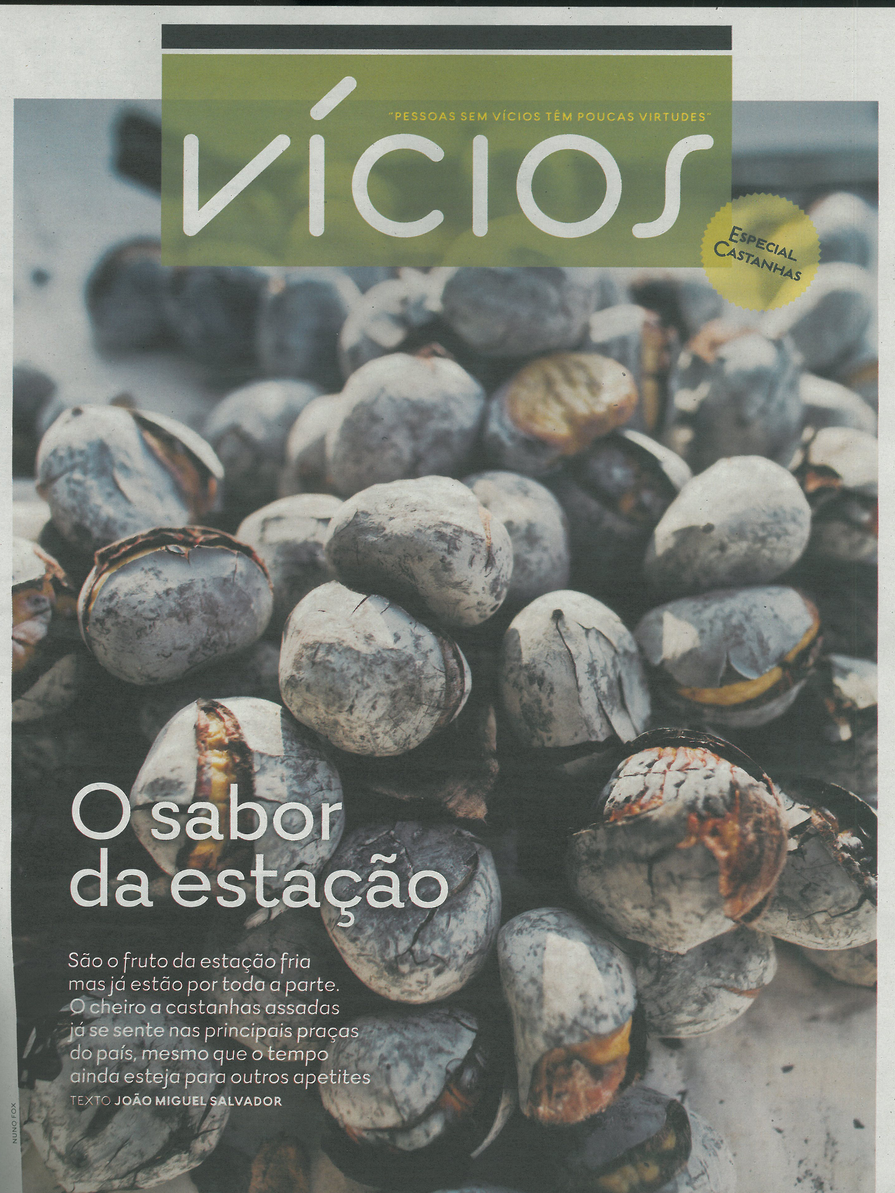 Castanha de Sernancelhe na Revista do Expresso de 4 de novembro